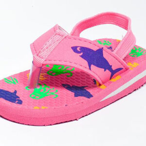 pink baby slippers