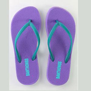 Banthong Violet flip flops