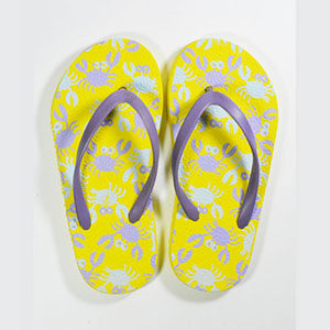 kids slippers lemon yellow