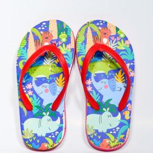 red jungle design footwear for kids
