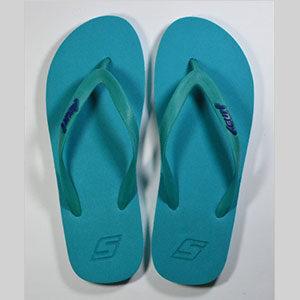 Surf Turquoise flip flops rubber slippers
